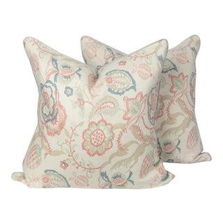 Linen Solana Petal Pillows - a Pair For Sale