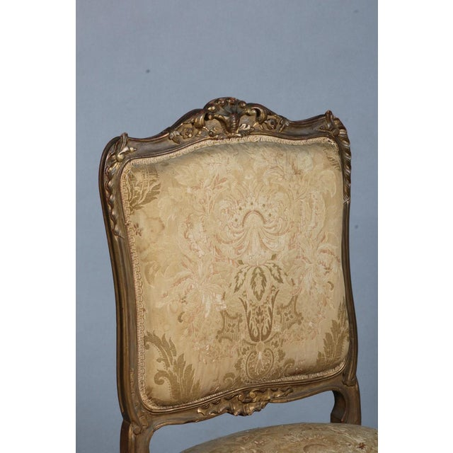 Early 19th Century Pair of Rococo Chairs Early 19th Century For Sale - Image 5 of 8