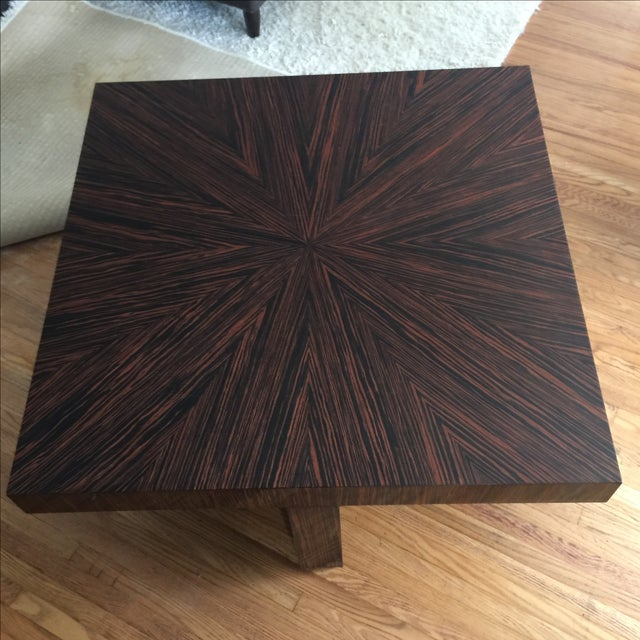 Ribboned Wood Coffee Table - Image 3 of 5
