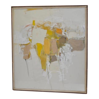 Mid-Century Modern Mixed Media Abstract Painting
