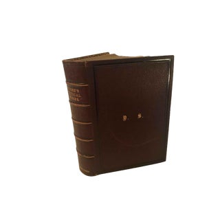 Antique Fore-Edge Leather Book of Moore's Poetical Works For Sale