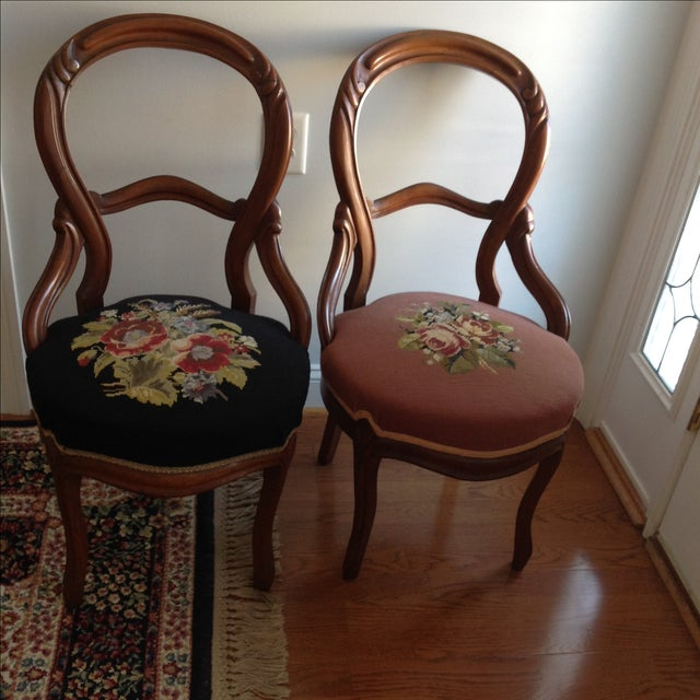Victorian Balloon Back Chairs - Pair - Image 3 of 3