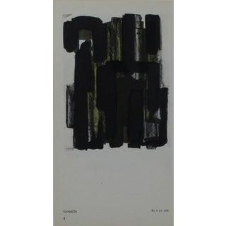 Pierre Soulages Pochoir Print For Sale