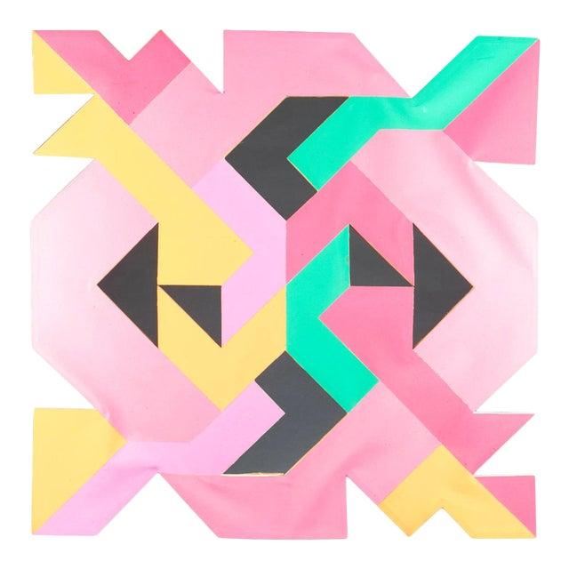 Geometric Hard Edge Painting by Sidney Guberman For Sale