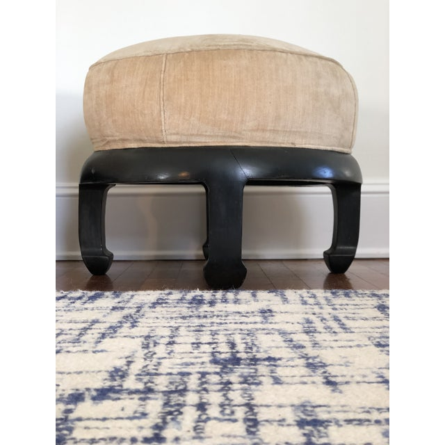 Transitional Vintage Chinoiserie Ottomans Bill Meyer Lamps Inc- a Pair For Sale - Image 3 of 7