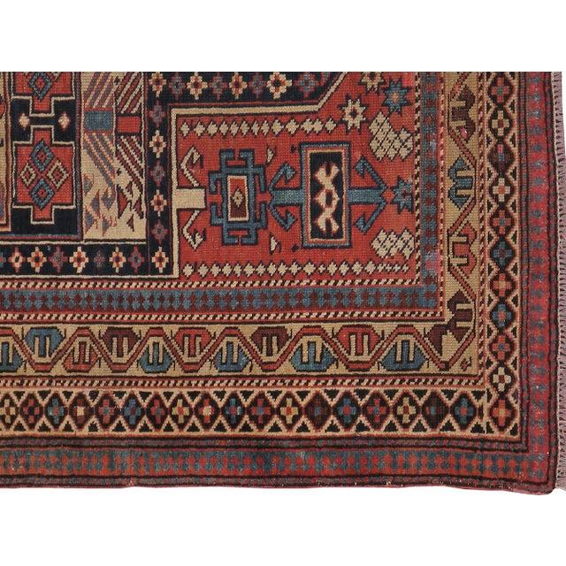 """Caucasian Kazak Antique Rug - 4'1"""" X 4'10"""" - Image 2 of 3"""