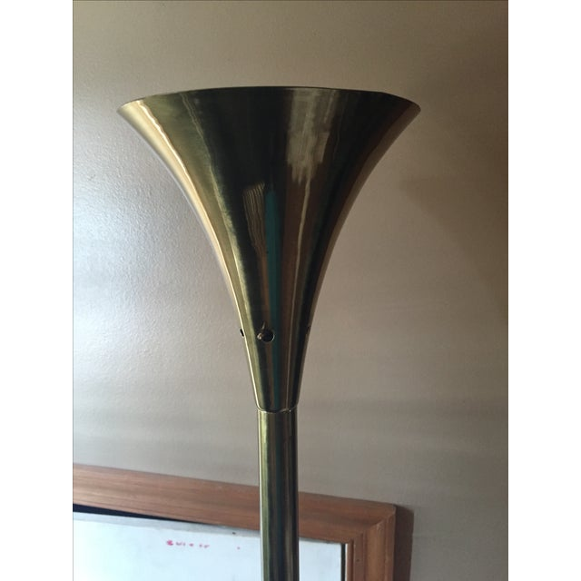 Brass Trumpet Floor Lamp - Image 3 of 5