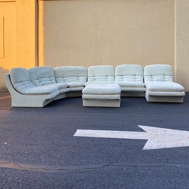 Vladimir Kagan for Preview 7 Piece Modular Sectional For Sale - Image 13 of 13