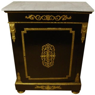 Neapolitan Bronze Mounted Ebonized Cabinet For Sale