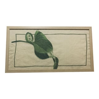 Modern Botanical Leaf Embroidery For Sale