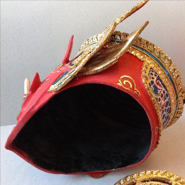 Antique Thai Demon Khon Mask - Image 10 of 11