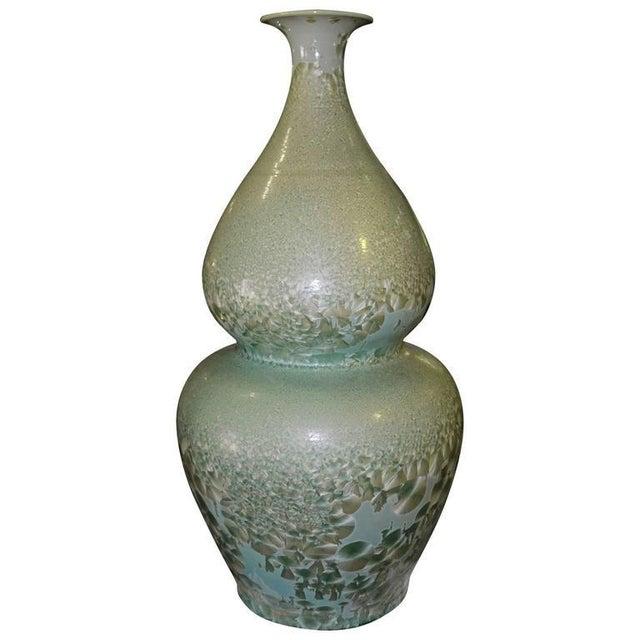 Set of Three Celadon Porcelain Floor Vases For Sale - Image 4 of 8