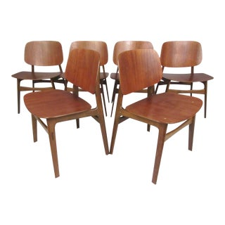 Mid-Century Børge Mogensen Dining Chairs, Model 155 For Sale