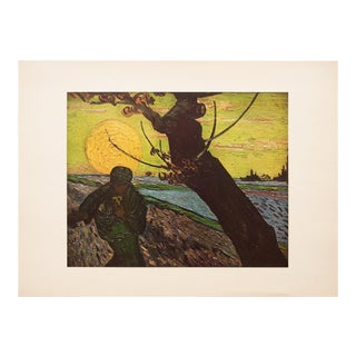 "1950s Vincent Van Gogh, ""The Sower"" First Edition Vintage Lithograph Print For Sale"
