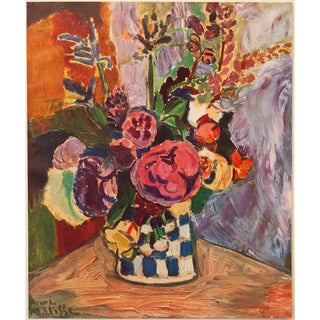 """1940s Henri Matisse """"Vase of Flowers"""" First Edition Period Swiss Lithograph For Sale"""