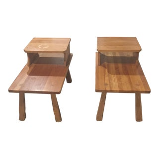 1950s Vintage Brandt Ranch Oak End Tables - A Pair For Sale