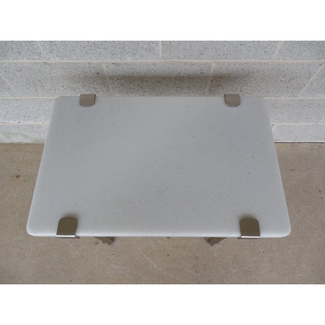 Bernhardt Furniture Designer Modern Style Marble Top Accent Table For Sale In Philadelphia - Image 6 of 12