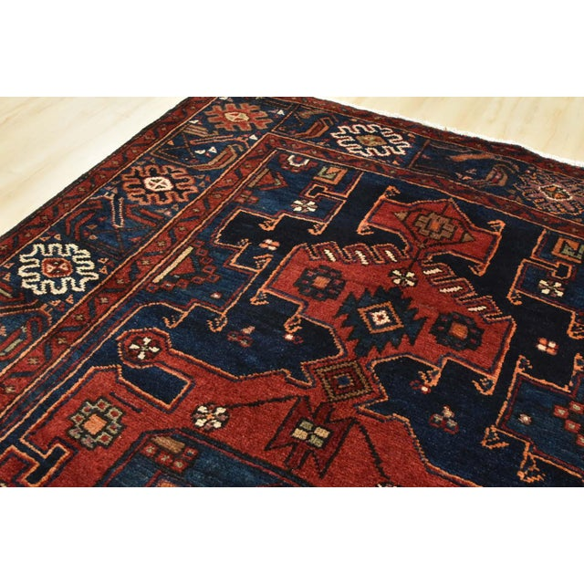 Textile Vintage Persian Hamadan Rug - 4'6'' X 7' For Sale - Image 7 of 13