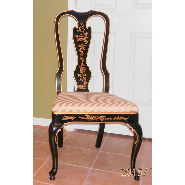 Drexel Heritage Chinoiserie Queen Anne Dining Chairs - S/6 - Image 6 of 7