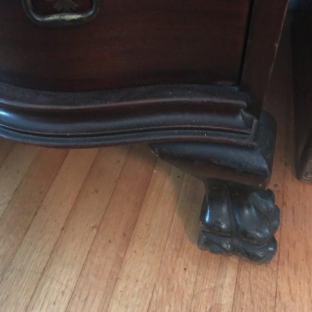 Glass Queen Ann Mahogany Secretary Desk Armoire For Sale - Image 7 of 11