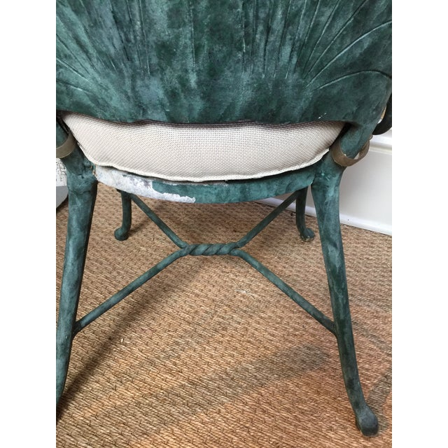 1960s Vintage Aluminum Shell Chairs- a Pair For Sale - Image 4 of 6
