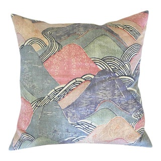 Edo Linen in Opal Pillow