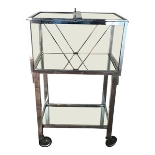 Art Deco Bar Cart by Jacques Adnet For Sale