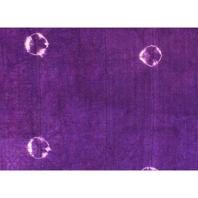 Violet Purple Mud Cloth Textile For Sale - Image 4 of 4