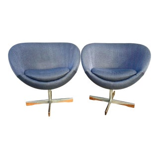 1960s Vintage Planet Chairs by Sven Ivar Dysthe for Westnofa - a Pair For Sale