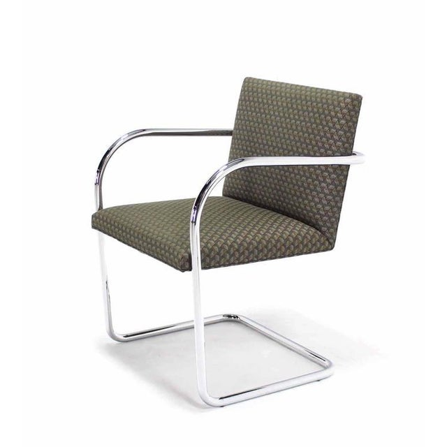 Mid 20th Century Pair of Mies Brno Side office dining Chairs for Knoll For Sale - Image 5 of 10
