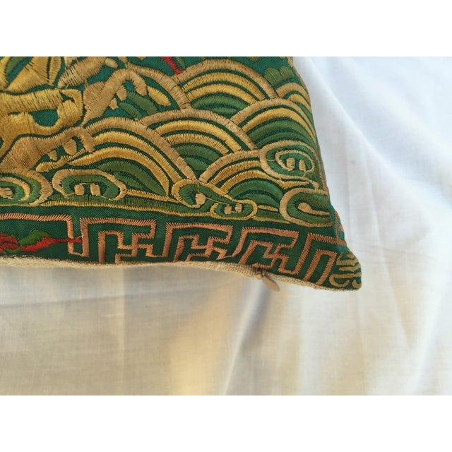 Chinoiserie Silk Crane Boudoir Pillow - Image 7 of 7