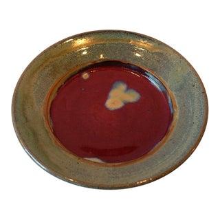 Multicolored Ceramic Stoneware Plate