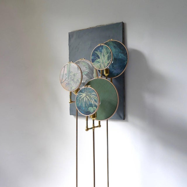 2010s Circle Blue Grey, Floor Lamp by Sander Bottinga For Sale - Image 5 of 8