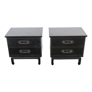 Hollywood Regency Pair of Painted Nightstands by American of Martinsville 2433 For Sale