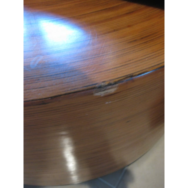 """Mid-Century Modern Round Drum Low Table 30"""" For Sale - Image 11 of 12"""