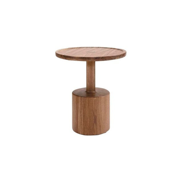 Wood Boton One Side Table in Conacaste Solid Wood For Sale - Image 7 of 7