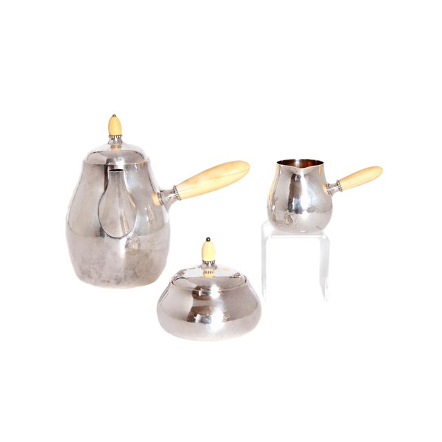 Sterling Silver Coffee Set by Georg Jensen - Image 11 of 11