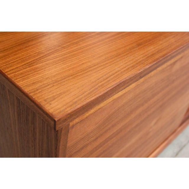Brown Mid-Century Style Walnut Credenza For Sale - Image 8 of 11