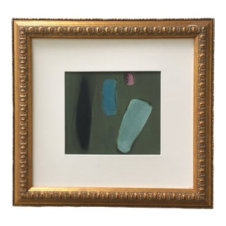 Abstract Dark Green Painting For Sale