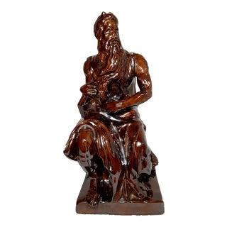 Royal Haeger Mid-Century Modern Brown Glazed Art Pottery Figurine For Sale