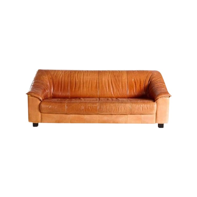 Mid Century Leather Sofa For Sale
