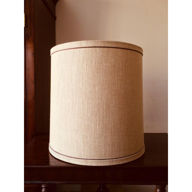 Mid 20th Century Large Mid-Century Frederick Cooper Drum Lamp Shades - a Pair For Sale - Image 5 of 9