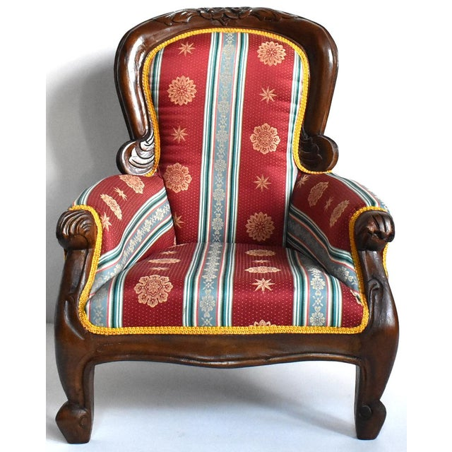 Antique Victorian-Style Upholstered Child's Chair For Sale - Image 11 of 11