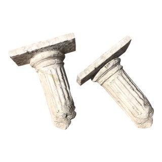 """Postmodern Plaster Neo-Classical """"Broken Column"""" Shelves - a Pair For Sale"""