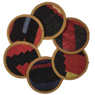 Kilim Coasters Set of 6 | Mahmutpaşa For Sale