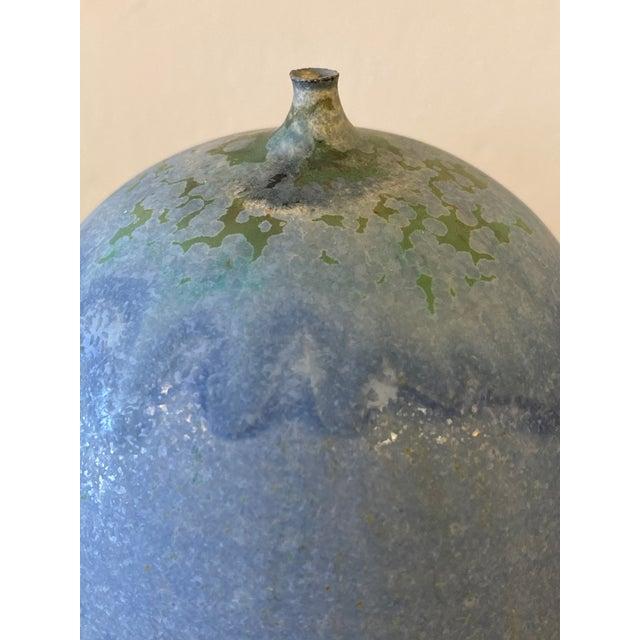 1960s Mid-Century Modern Rose Cabat 'Feelie' Lavender Blue With Olive Crystalline For Sale - Image 9 of 13