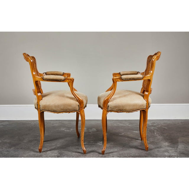 19th Century Louis XV Style Caned Armchairs - Set of 4 For Sale - Image 4 of 11