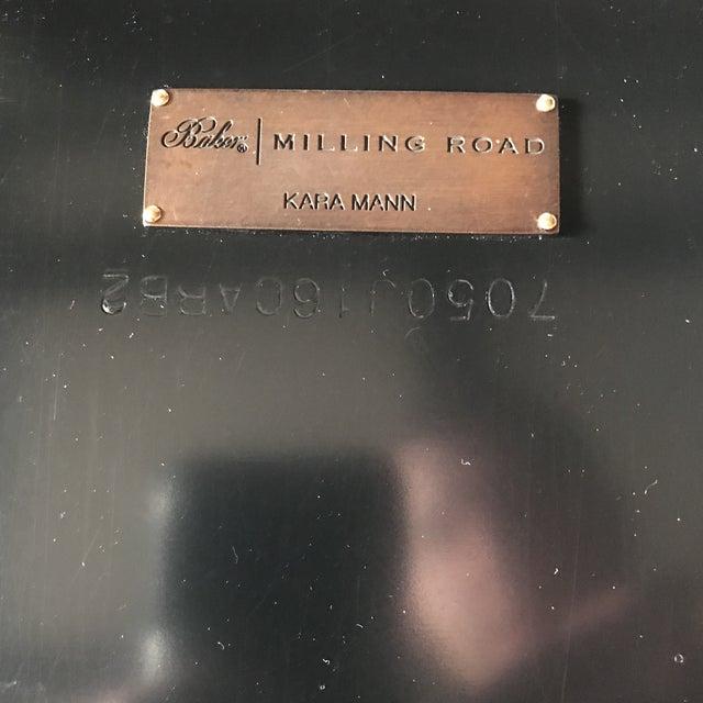 White Asian Modern Baker Furniture Milling Road Kara Mann Cocktail Table For Sale - Image 8 of 12