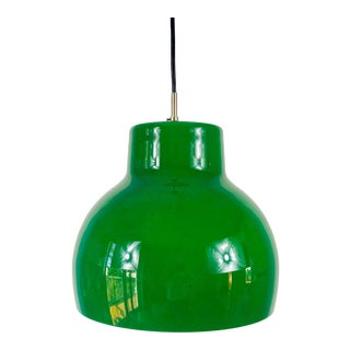 1970s Space Age Green Glass Pendant Lighting by Peill & Putzler, Germany For Sale