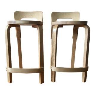Artek High Chairs K65 by Alvar Aalto - a Pair - Price Is Per Item For Sale